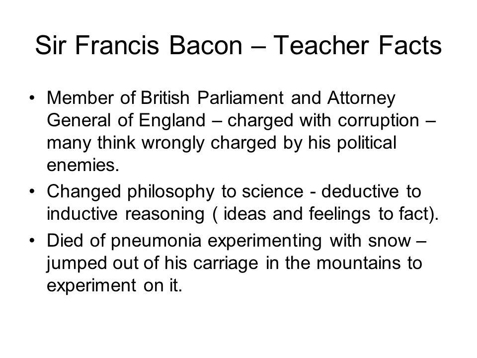 Sir Francis Bacon – Teacher Facts