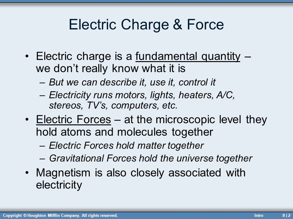 Electric Charge & Force