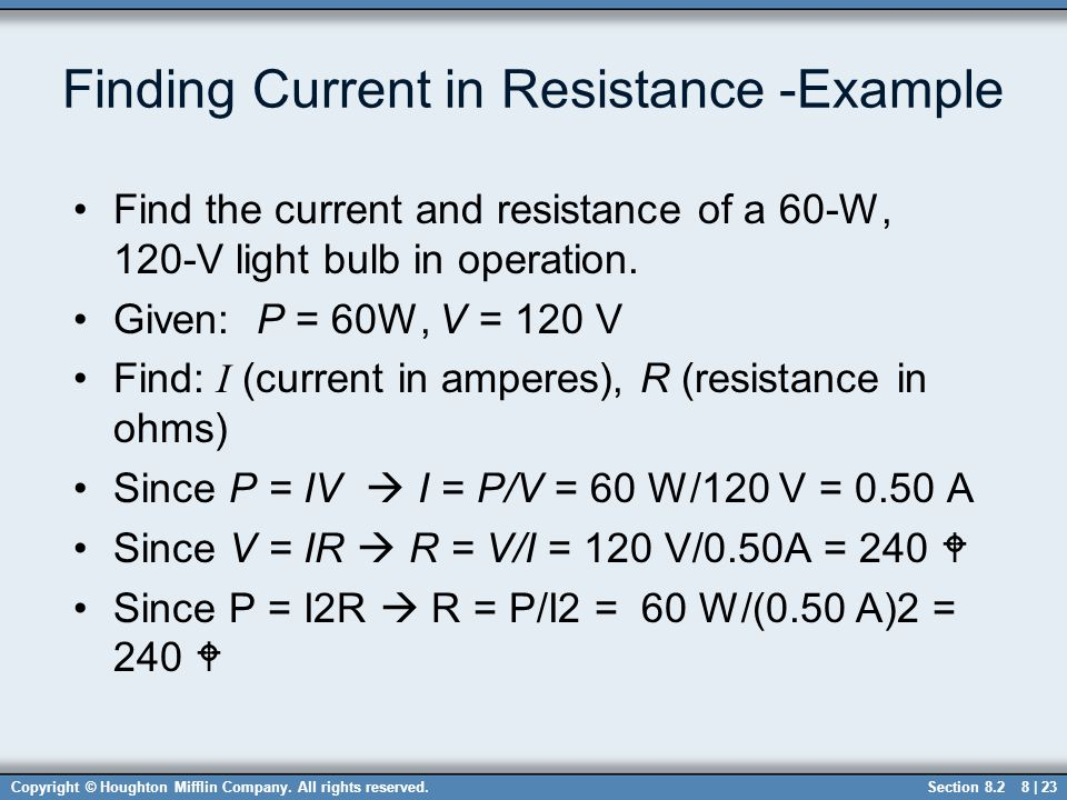 Finding Current in Resistance -Example