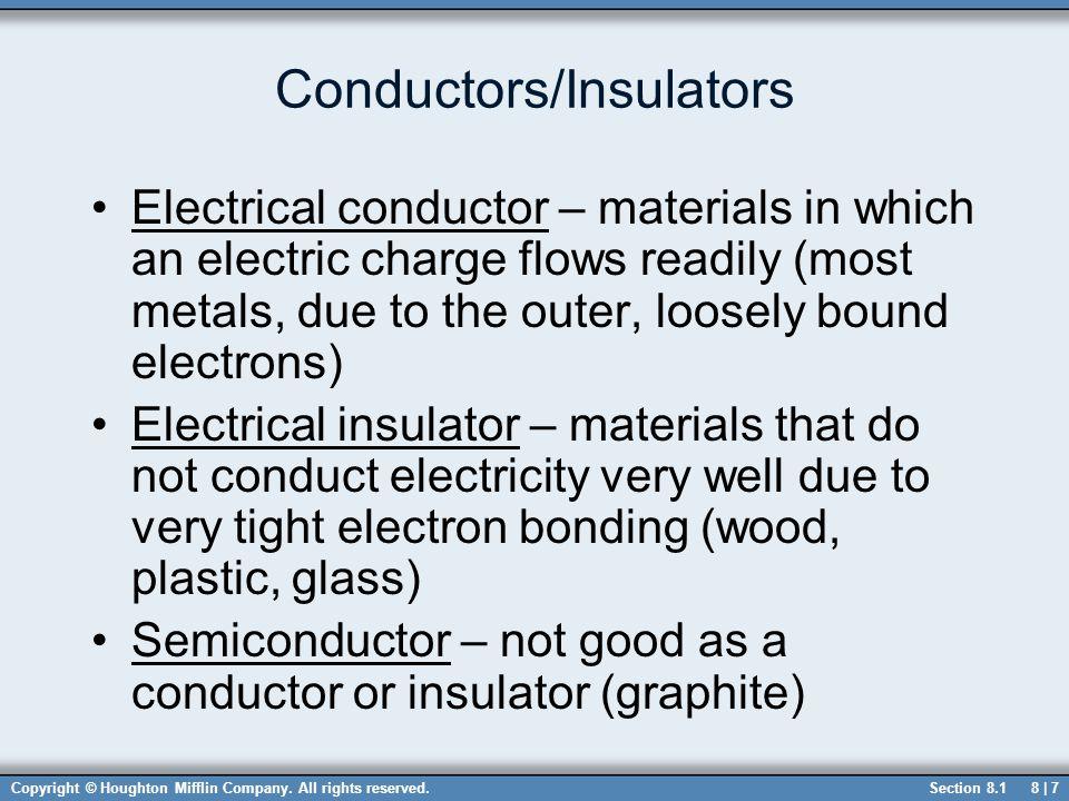 Conductors/Insulators