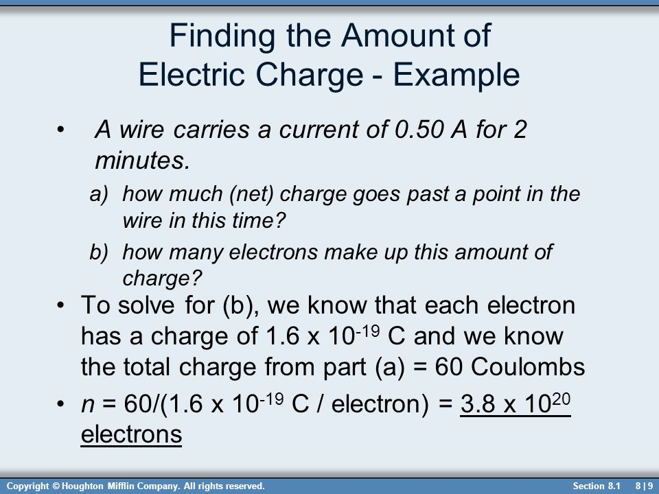 Finding the Amount of Electric Charge - Example