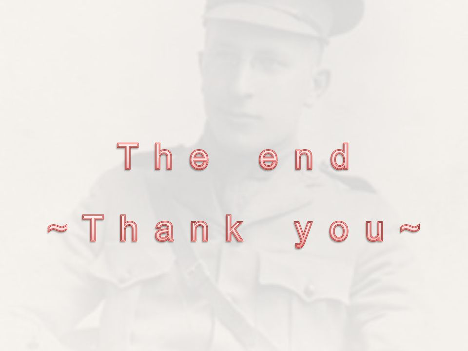 The end ~Thank you~