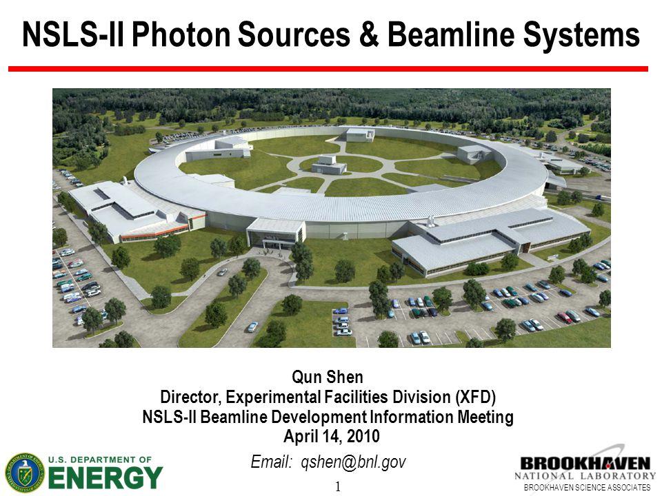 NSLS-II Photon Sources & Beamline Systems