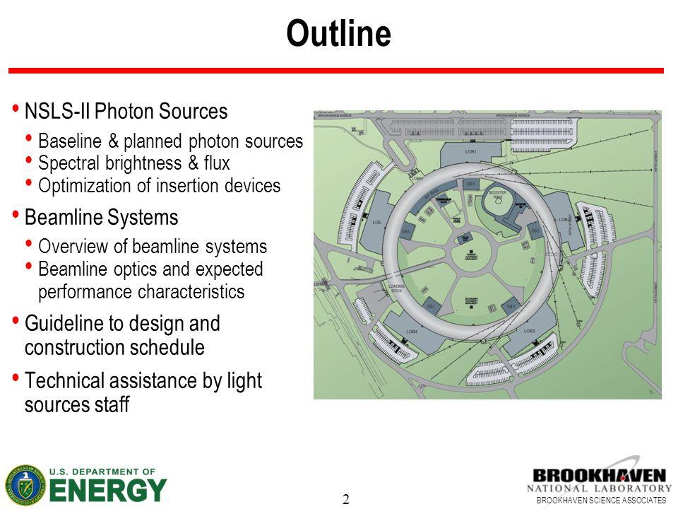 Outline NSLS-II Photon Sources Beamline Systems
