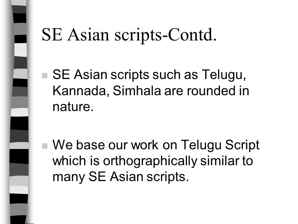 SE Asian scripts-Contd.