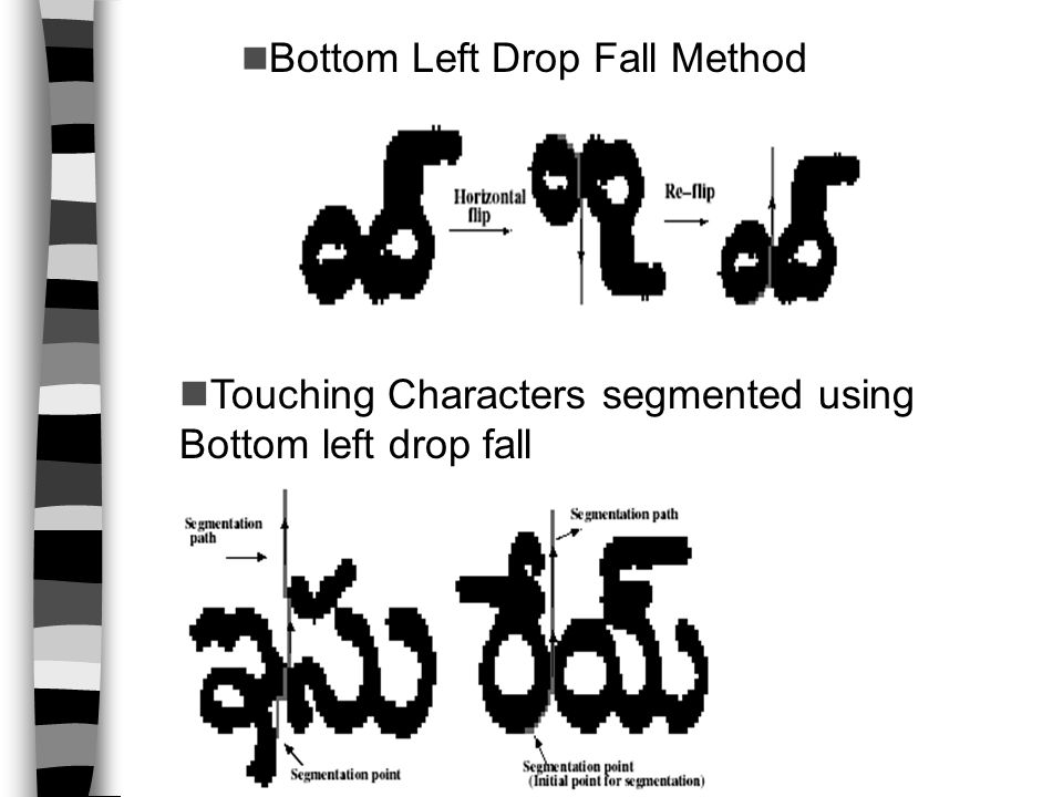 Bottom Left Drop Fall Method