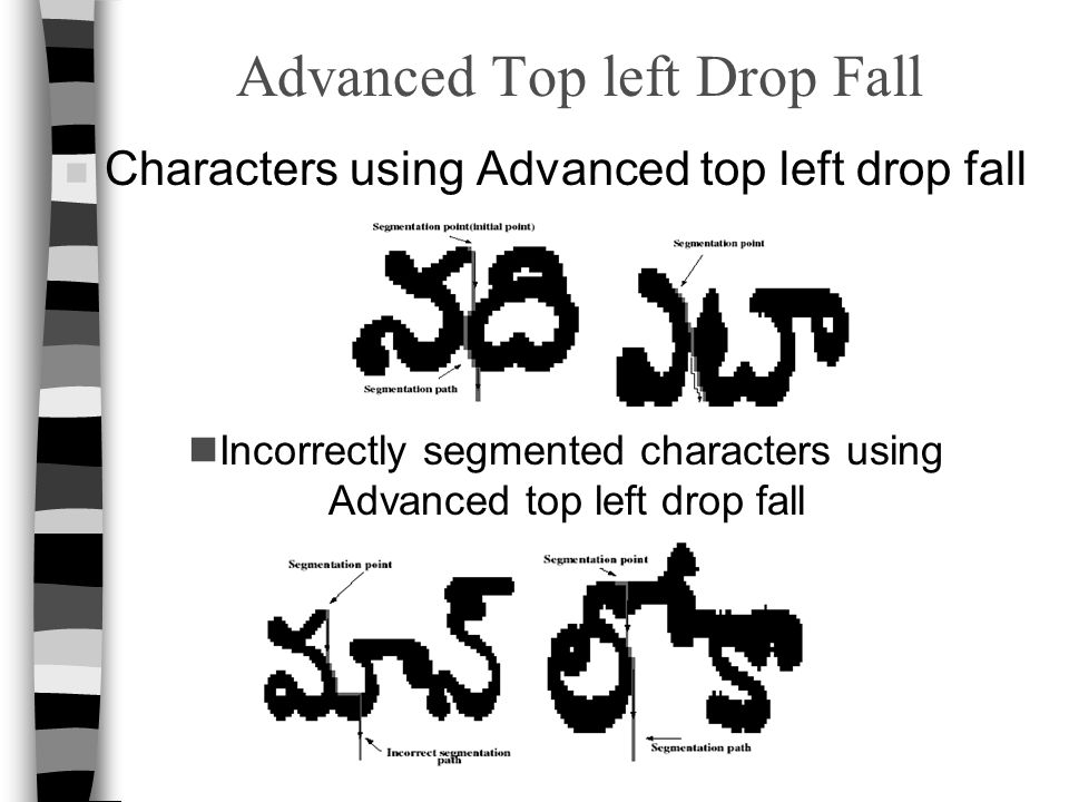 Advanced Top left Drop Fall