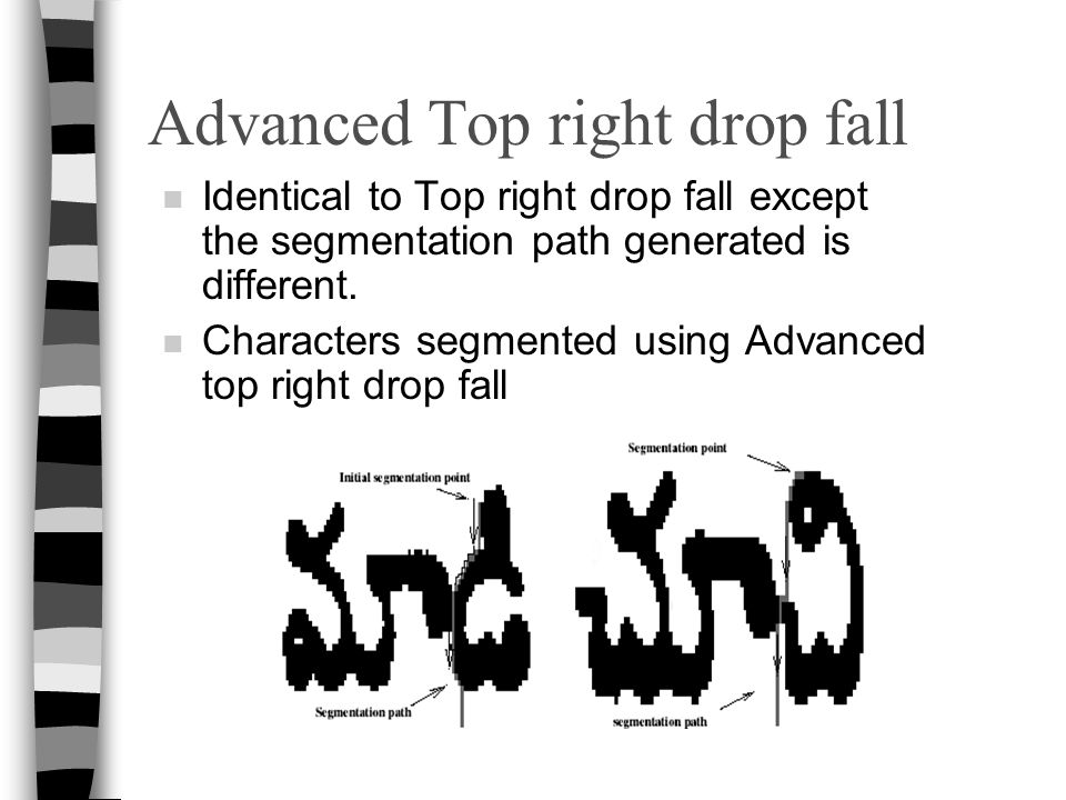 Advanced Top right drop fall