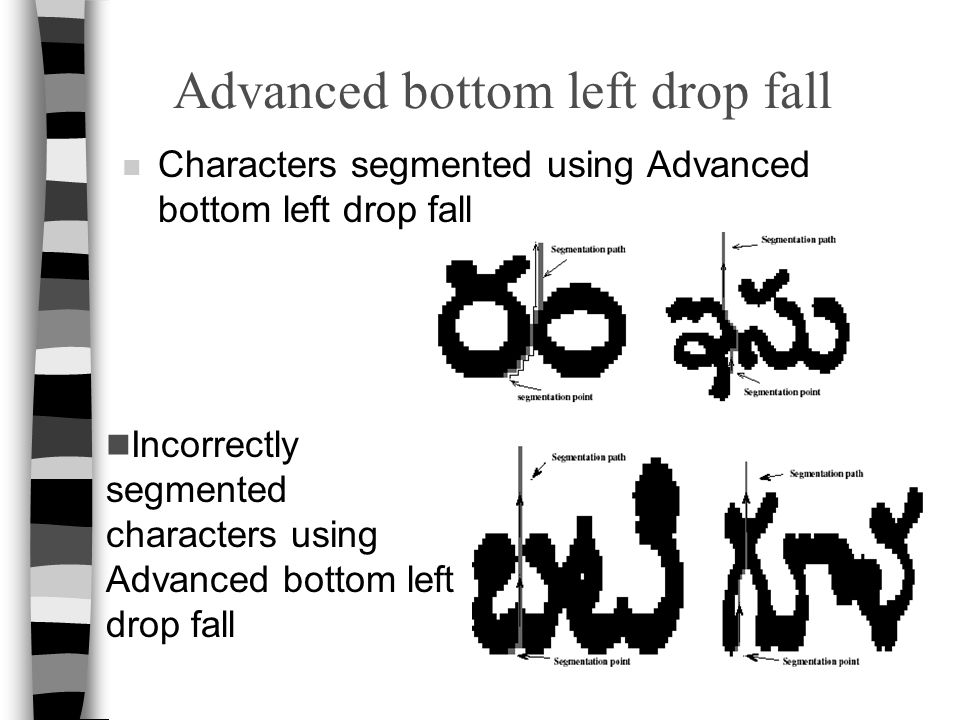 Advanced bottom left drop fall
