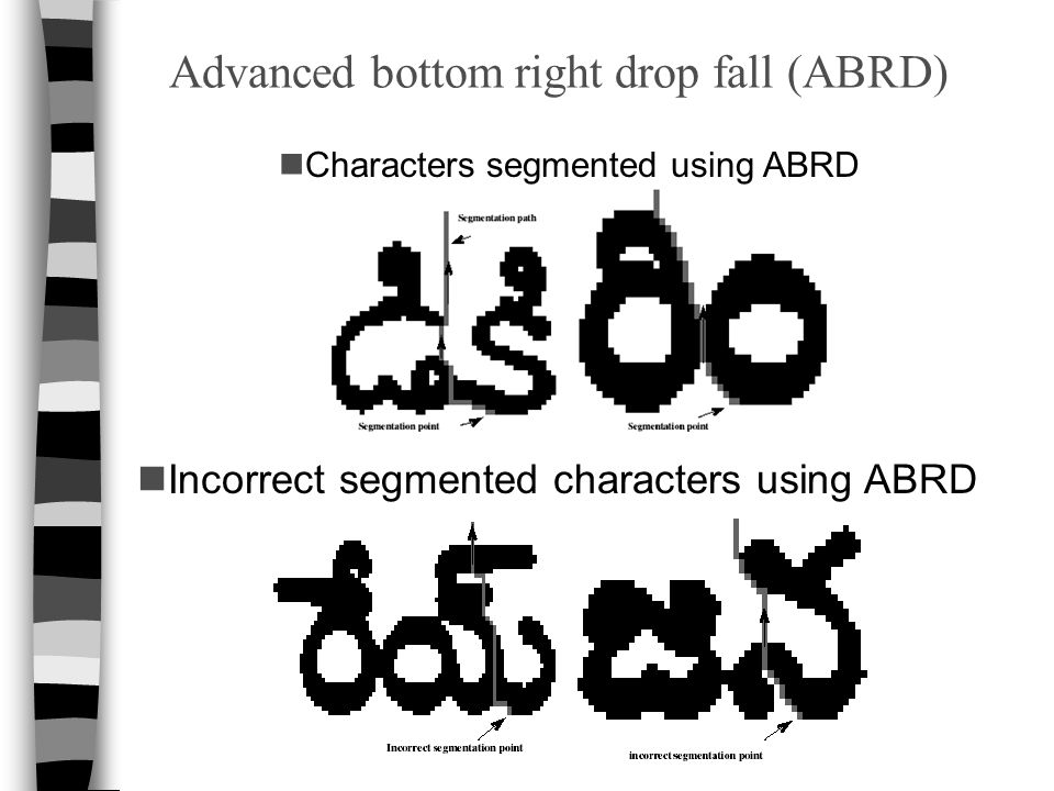 Advanced bottom right drop fall (ABRD)