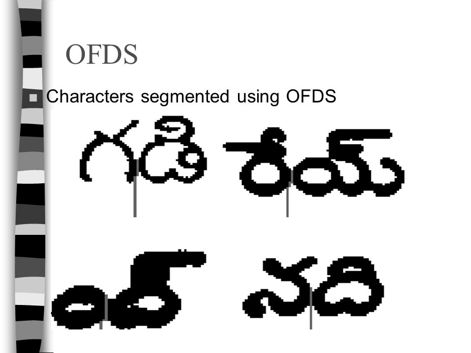 OFDS Characters segmented using OFDS