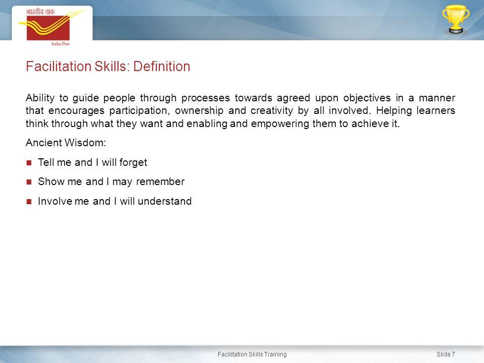 Facilitation Skills: Definition