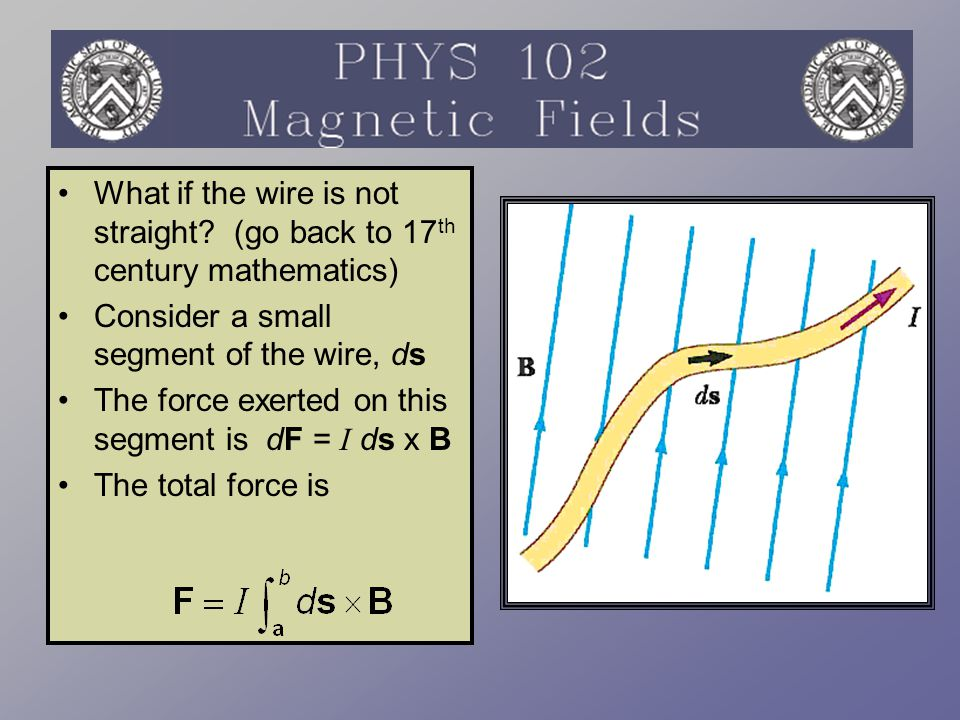 What if the wire is not straight (go back to 17th century mathematics)