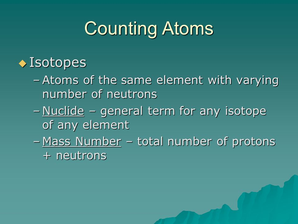 Counting Atoms Isotopes