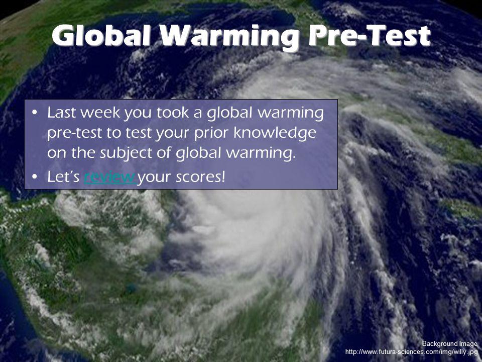Global Warming Pre-Test