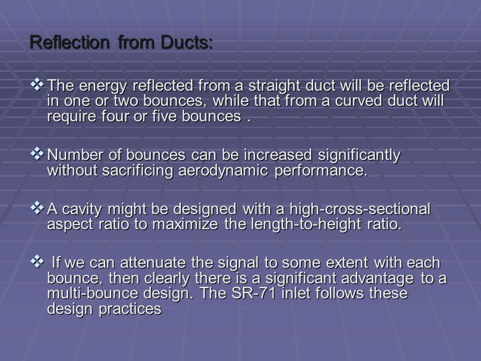 Reflection from Ducts:
