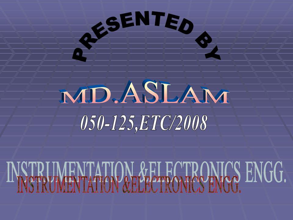 INSTRUMENTATION &ELECTRONICS ENGG.