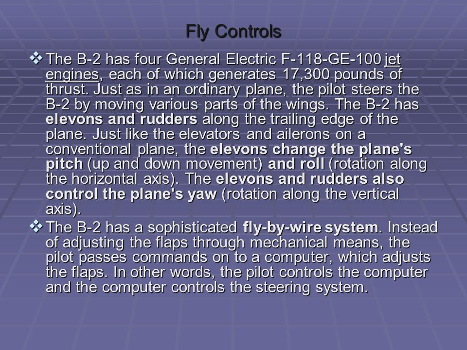 Fly Controls