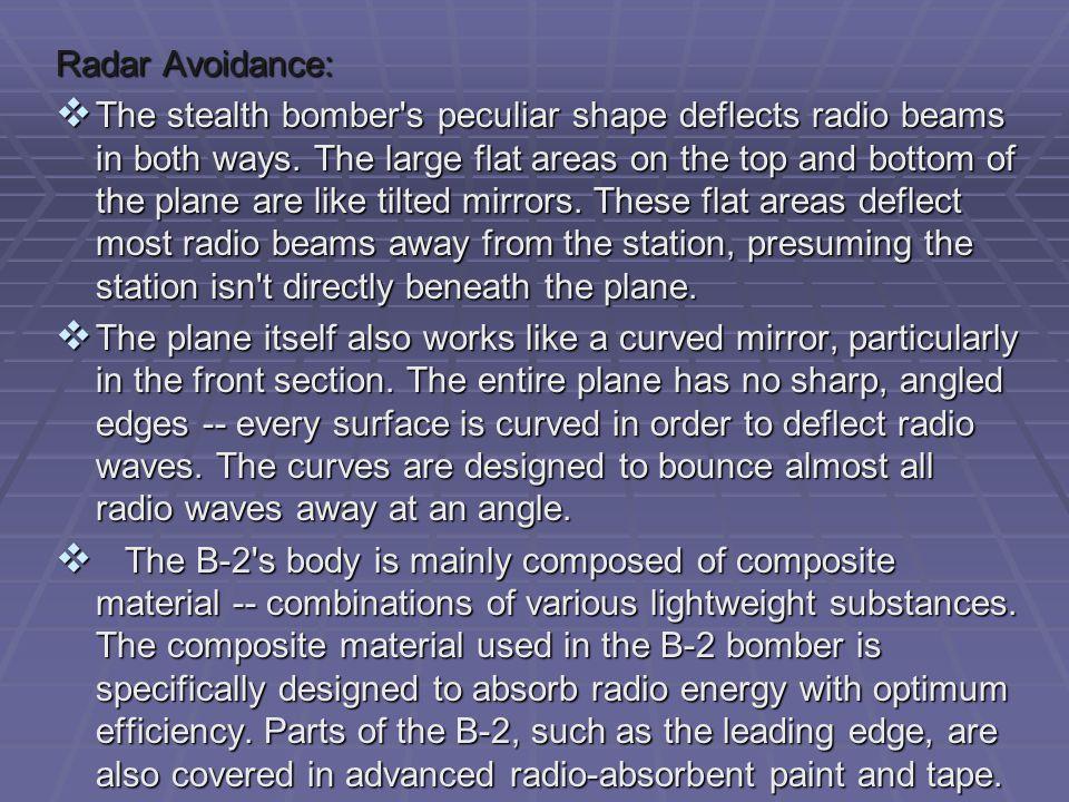Radar Avoidance: