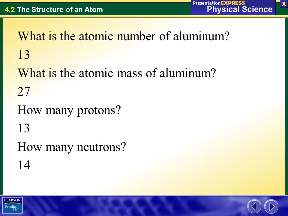 What is the atomic number of aluminum