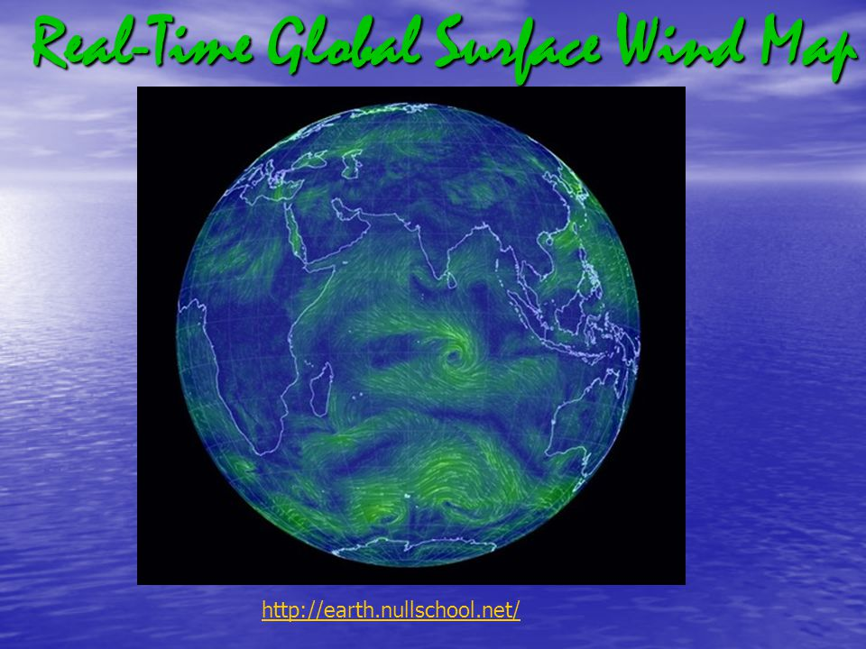 Real-Time Global Surface Wind Map