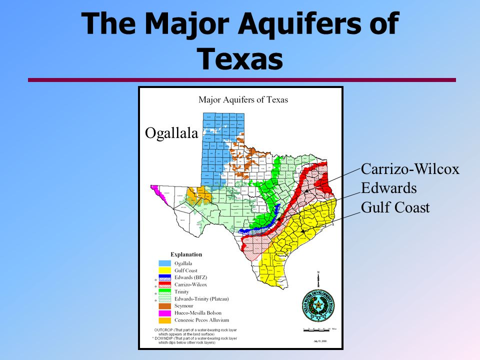 The Major Aquifers of Texas