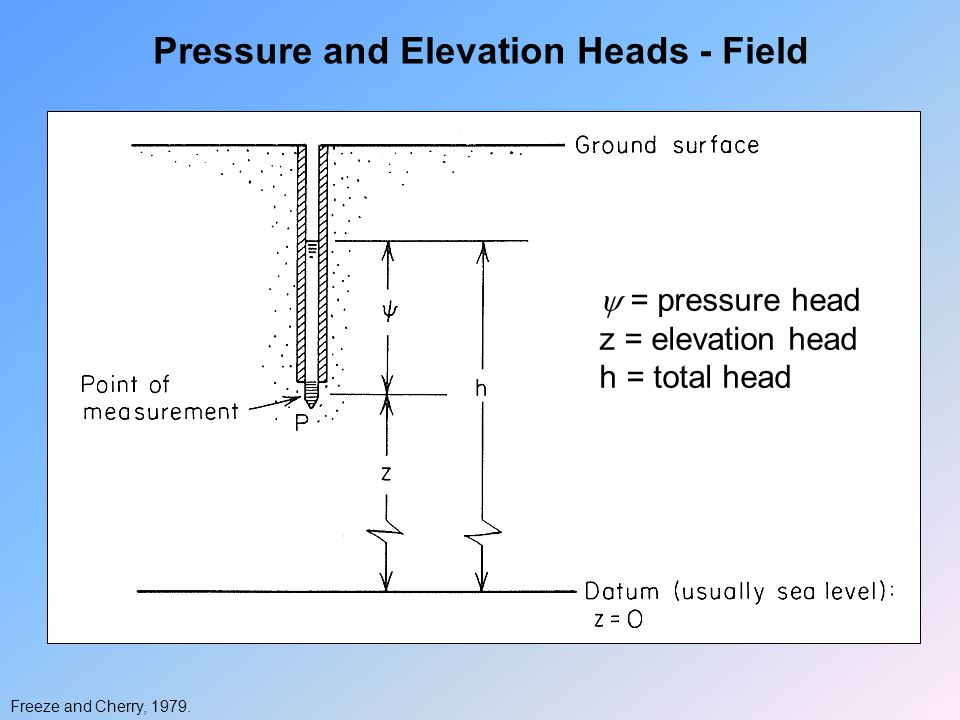 Pressure and Elevation Heads - Field