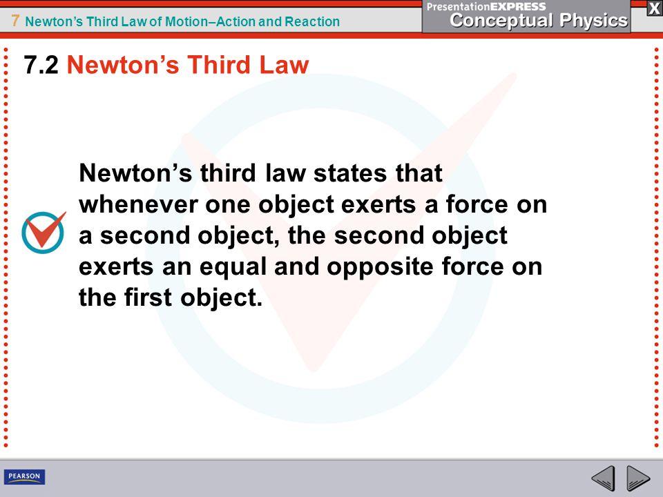 7.2 Newton's Third Law