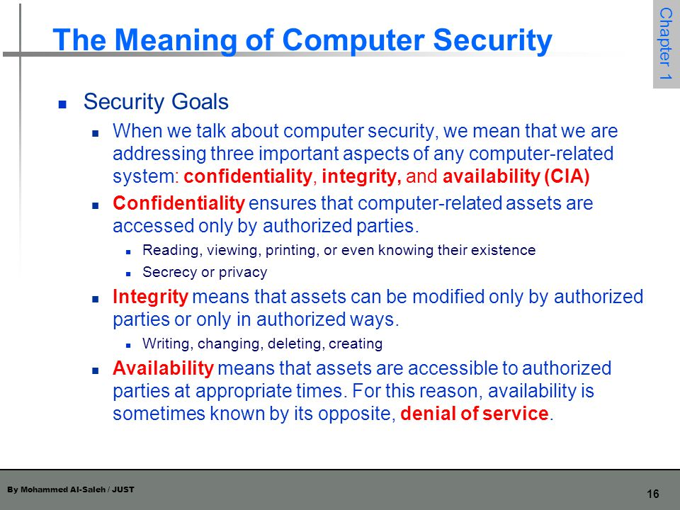 The Meaning of Computer Security