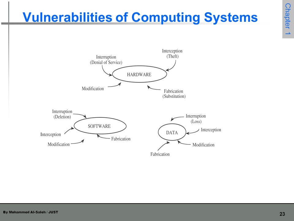 Vulnerabilities of Computing Systems