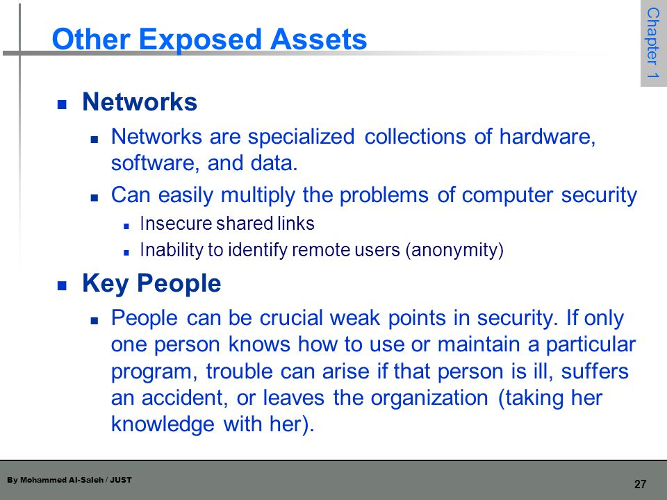 Other Exposed Assets Networks Key People