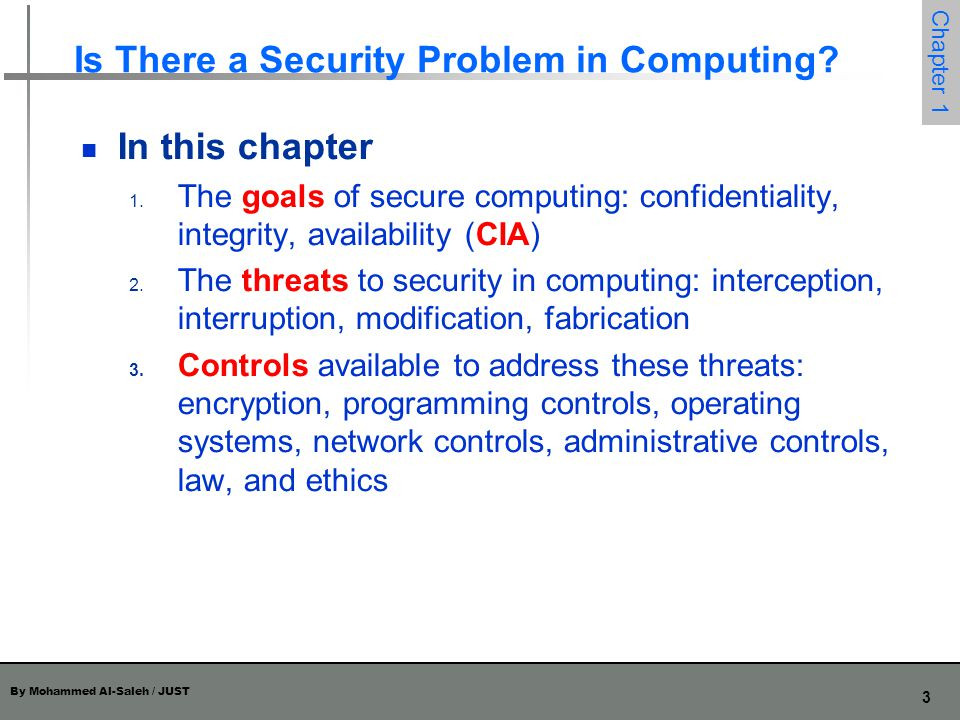Is There a Security Problem in Computing