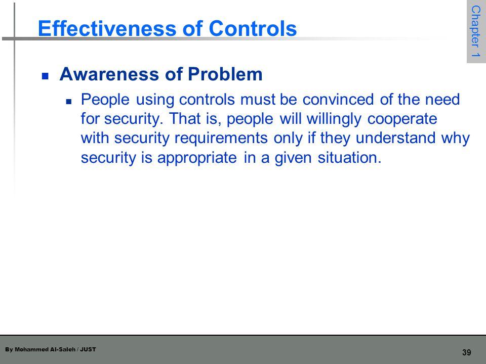 Effectiveness of Controls