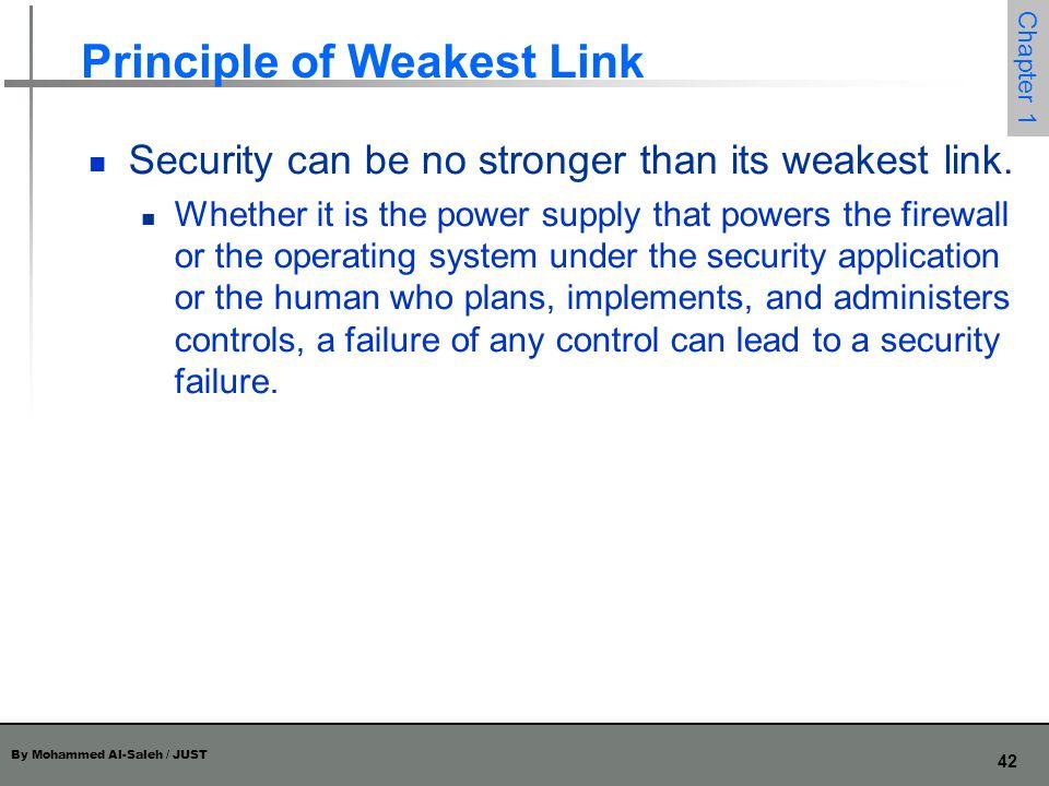 Principle of Weakest Link