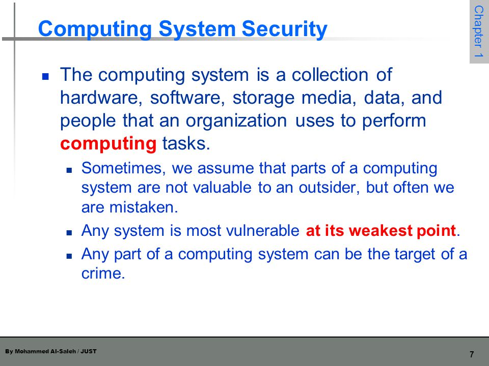 Computing System Security