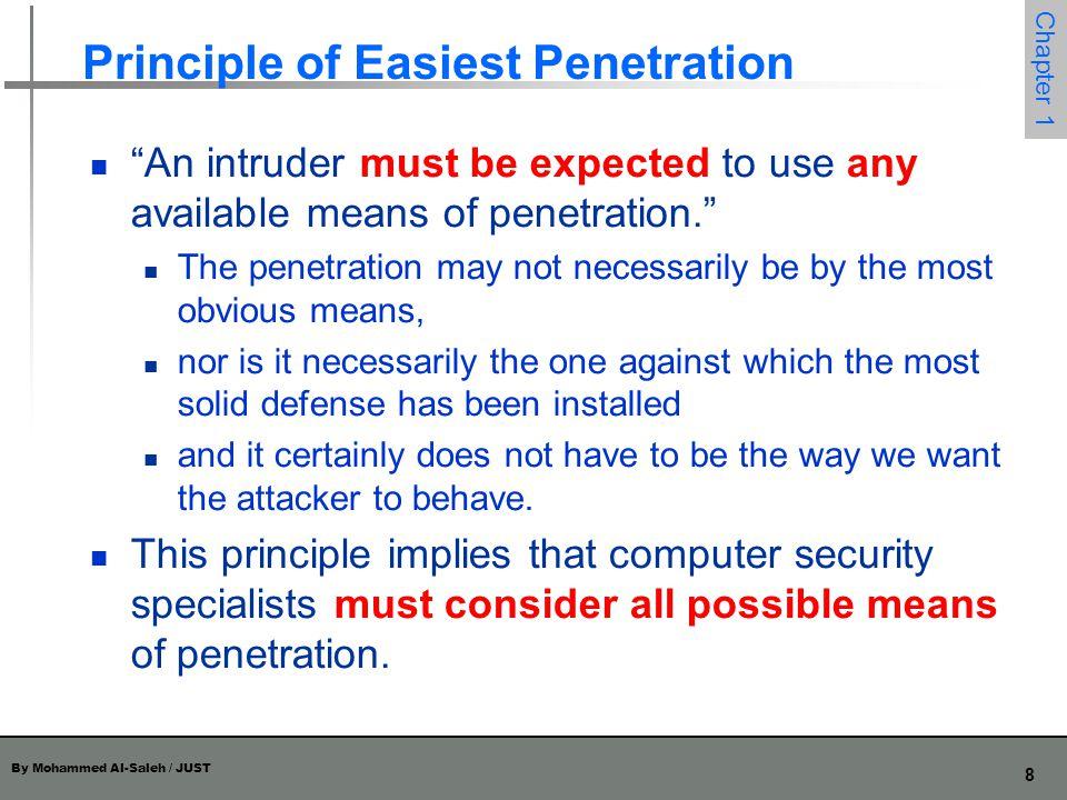 Principle of Easiest Penetration