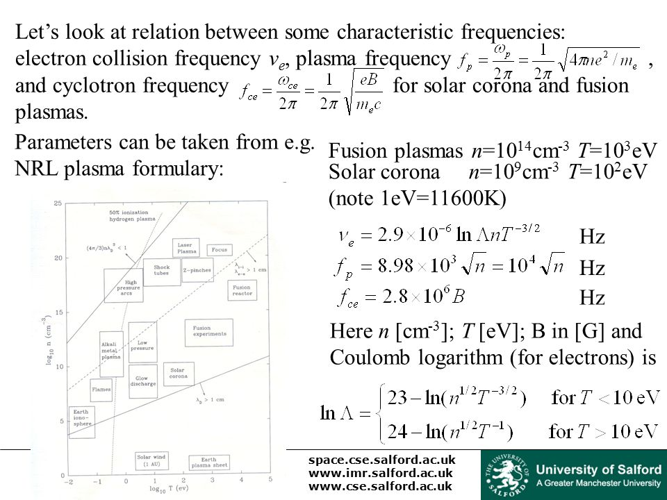 Let's look at relation between some characteristic frequencies: