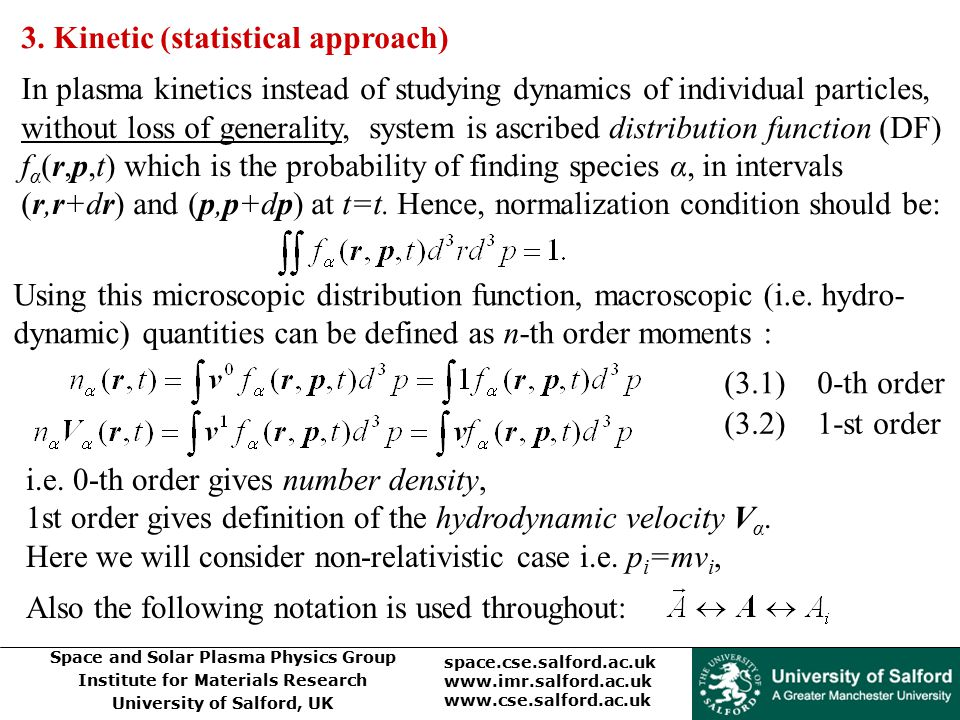 3. Kinetic (statistical approach)