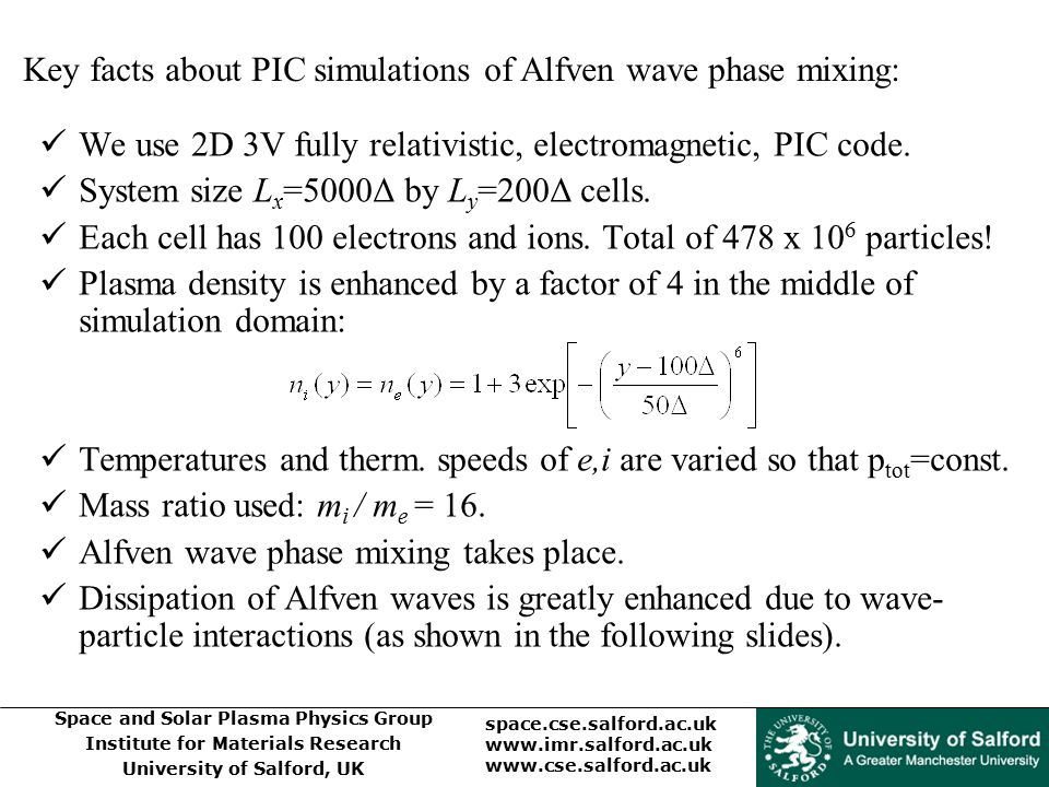Key facts about PIC simulations of Alfven wave phase mixing: