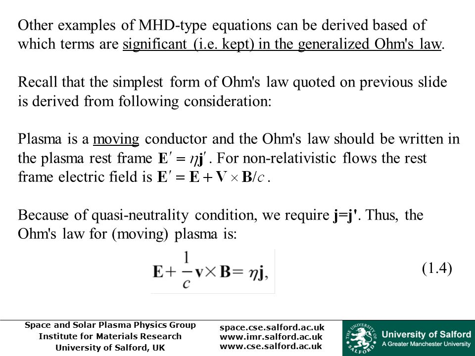 Other examples of MHD-type equations can be derived based of