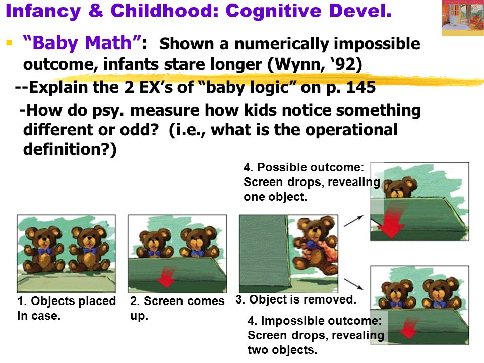 Infancy & Childhood: Cognitive Devel.