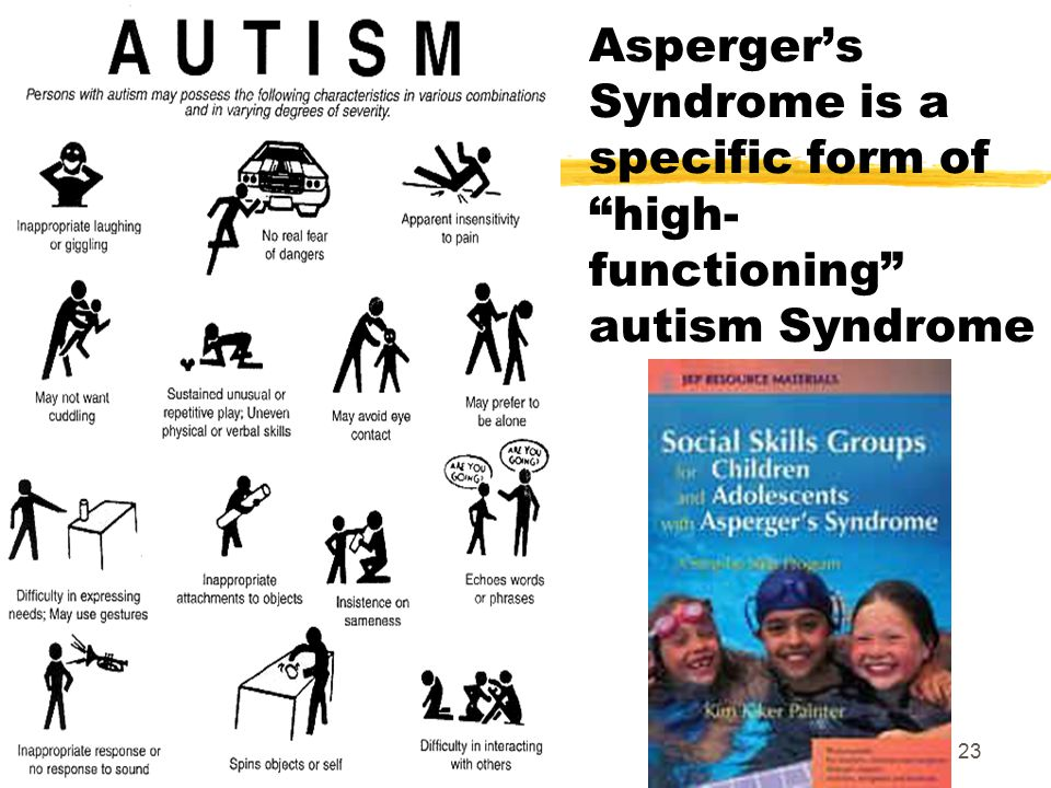 Asperger's Syndrome is a specific form of high-functioning autism Syndrome