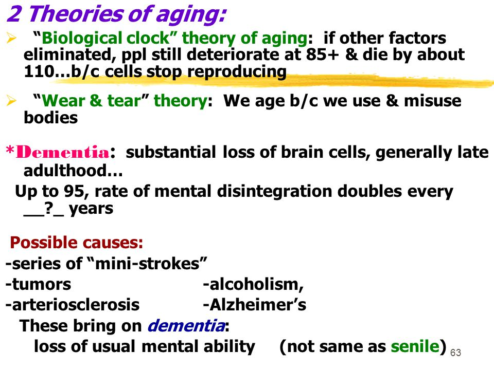 2 Theories of aging: