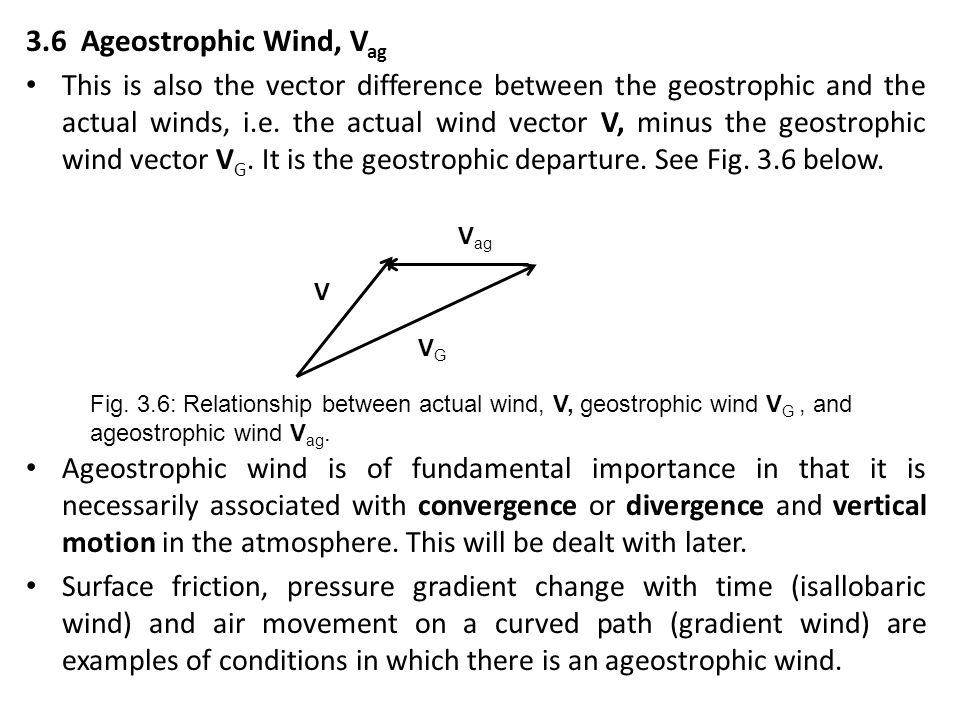 3.6 Ageostrophic Wind, Vag
