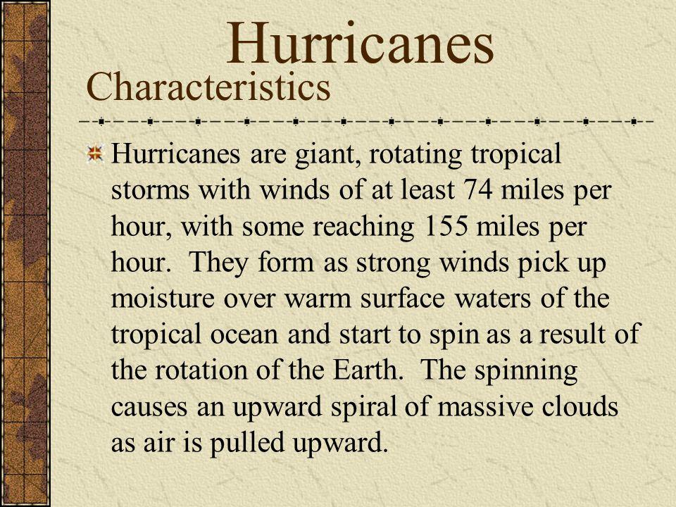 Hurricanes Characteristics