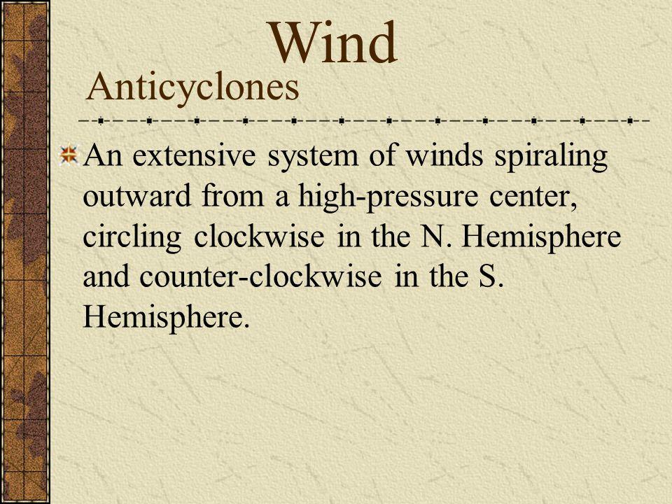 Wind Anticyclones.