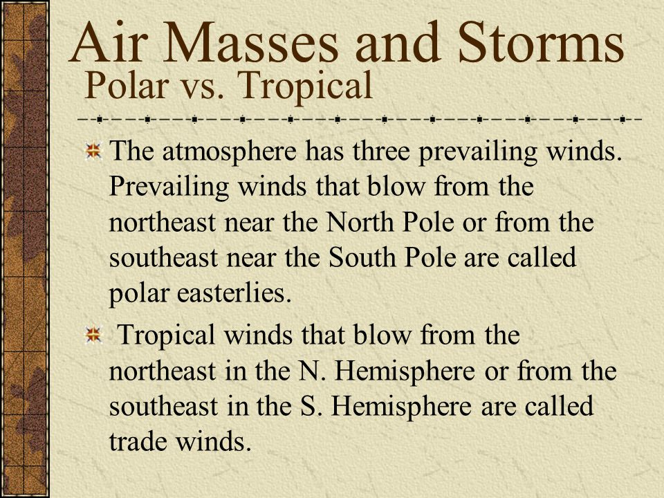 Air Masses and Storms Polar vs. Tropical