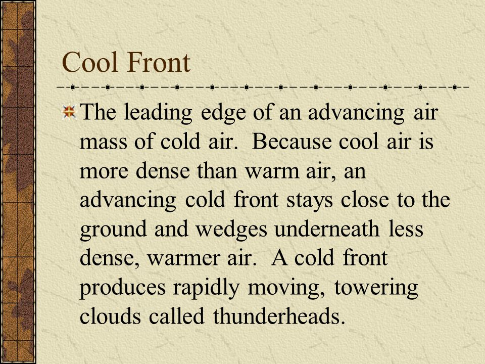 Cool Front