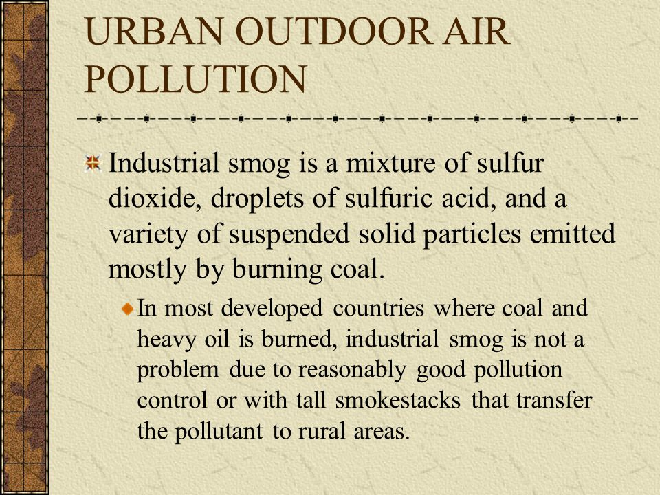 URBAN OUTDOOR AIR POLLUTION