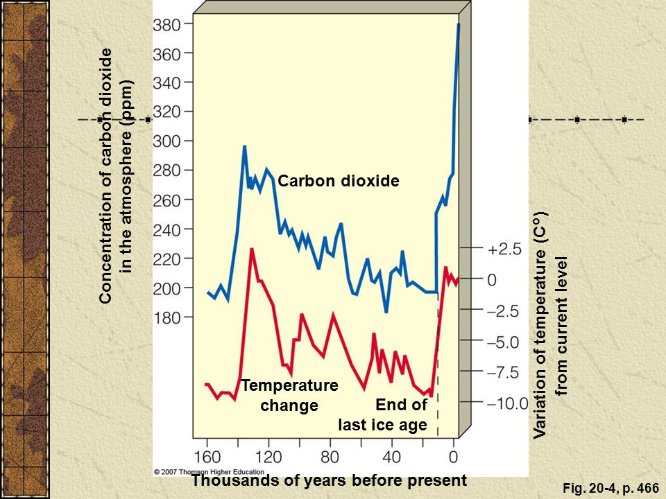 Concentration of carbon dioxide